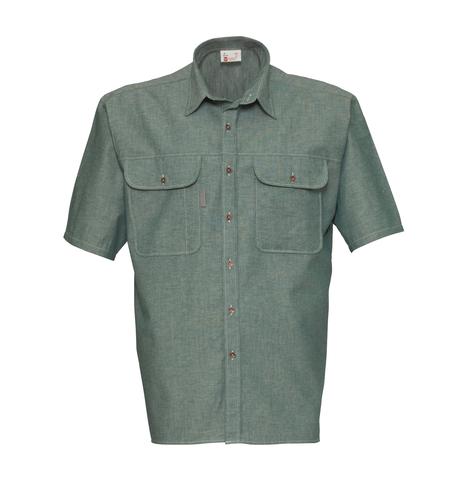 HAVEP® Basic Hemd korte mouw Flessengroen
