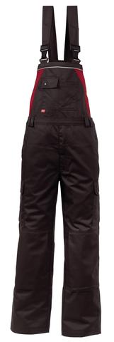 HAVEP® 4seasons Amerikaanse overall/Bretelbroek Charcoal grey/rood