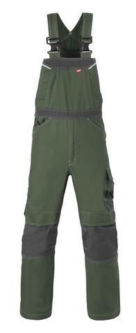 HAVEP® Attitude Amerikaanse overall/Bretelbroek bosbouw groen/charcoal grijs