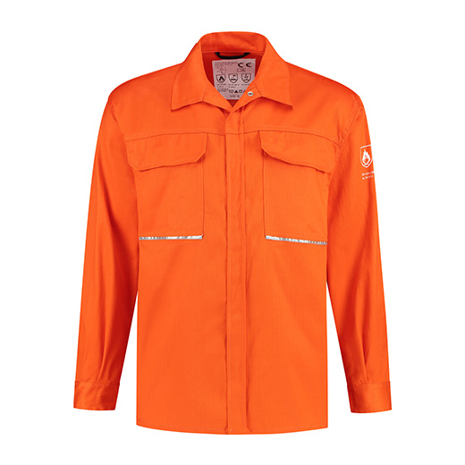 Bestex Blouse oranje vlamvertragend AS