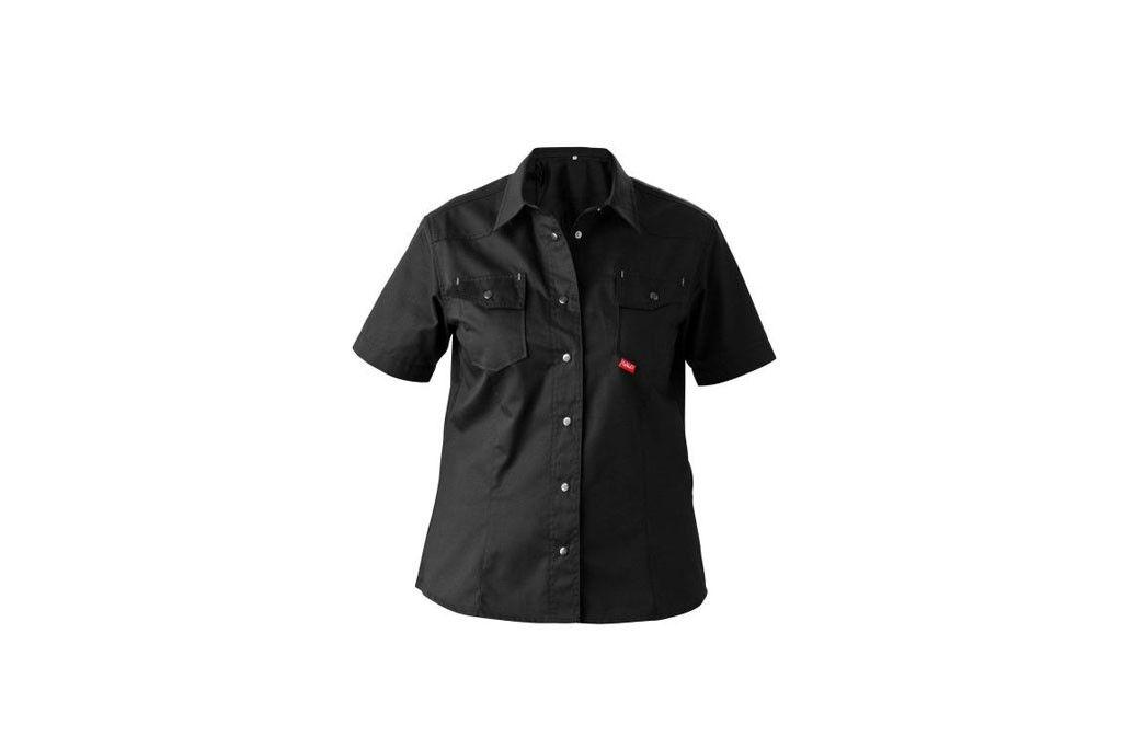 HAVEP® Worker.pro Dames Hemd korte mouw Zwart/Zilvergrijs