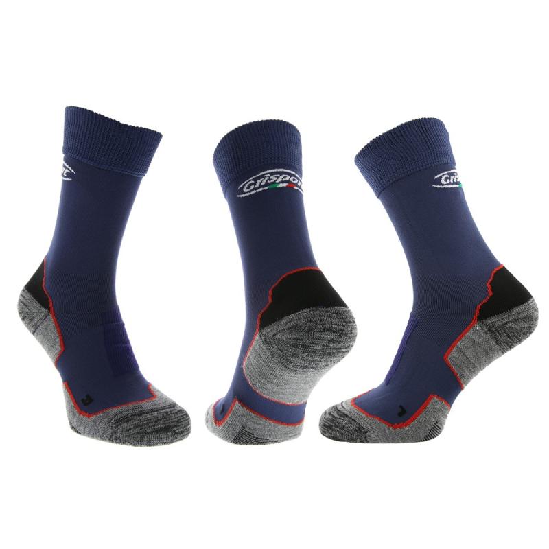 Grisport Trekking Sokken 4125 set van 3 blauw
