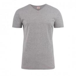 Printer Heavy V-neck T-shirt 2264024 oceaanblauw