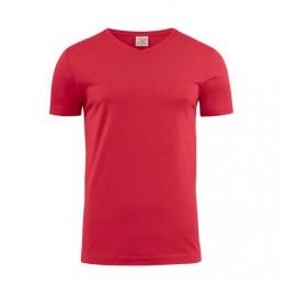 Printer Heavy V-neck T-shirt 2264024 staalgrijs