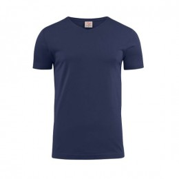 Printer Heavy V-neck T-shirt 2264024 navy/marine