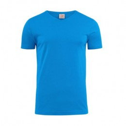 Printer Heavy V-neck T-shirt 2264024 oceaanblauw