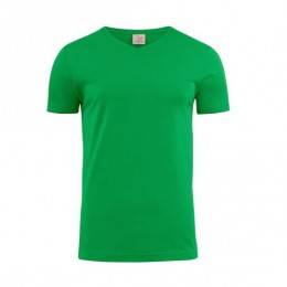 Printer Heavy V-neck T-shirt 2264024 frisgroen