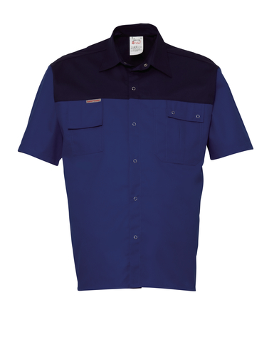HAVEP® 2000 Hemd korte mouw Korenblauw/marine
