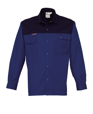 HAVEP® 2000 Hemd lange mouw Korenblauw/marine