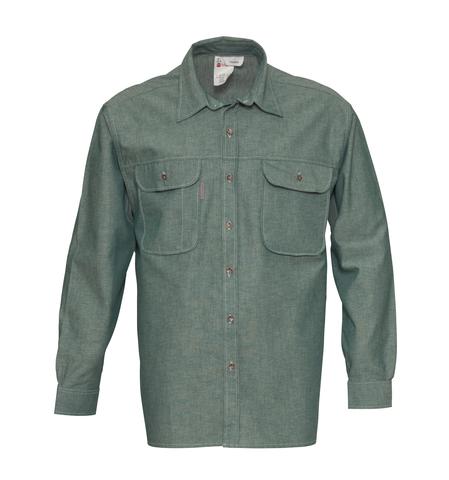 HAVEP® Basic Hemd lange mouw Flessengroen