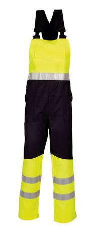 HAVEP® Multi Protector Amerikaanse overall/Bretelbroek Marine/fluo geel