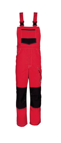 HAVEP® Titan Amerikaanse overall/Bretelbroek Rood/zwart