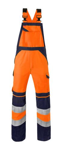 HAVEP® Multi Shield Amerikaanse overall/Bretelbroek fluo oranje/marine