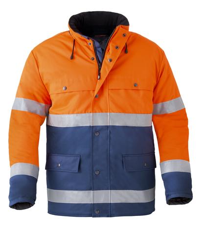 HAVEP® High Visibility Parka 4133 Marineblauw/fluo oranje