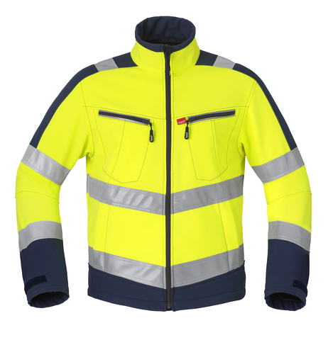 HAVEP® High Visibility Softshell 50214 fluo geel/marine