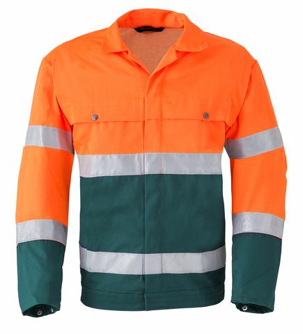 HAVEP® High Visibility Jack/Blouson 5105 Flessengroen/fluo oranje