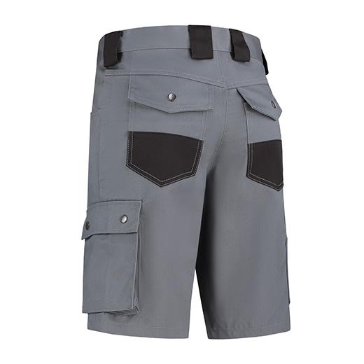 Werkbroek kort Bestex grijs-zwart BK6040-GRZWT