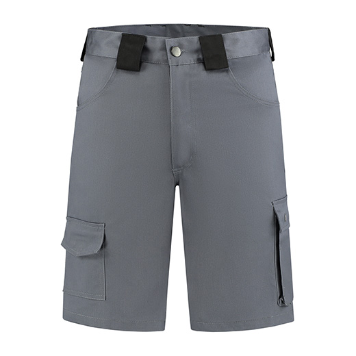 Werkbroek kort Bestex grijs-zwart