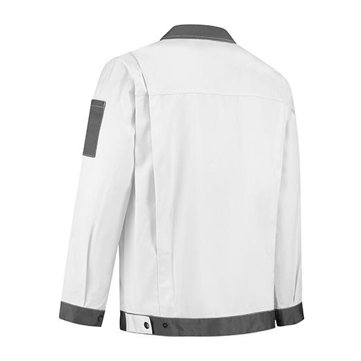 Bestex Werkjasje wit/grijs