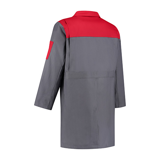 Bestex Stofjas grijs/rood  2-kleurig