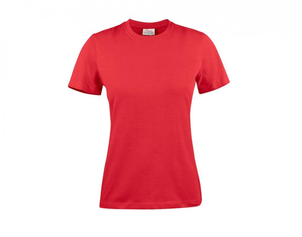 Printer T-shirt light RSX dames 2264028 rood