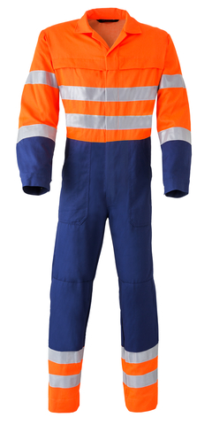 HAVEP® High Visibility Overall 2415 Marineblauw/fluo oranje