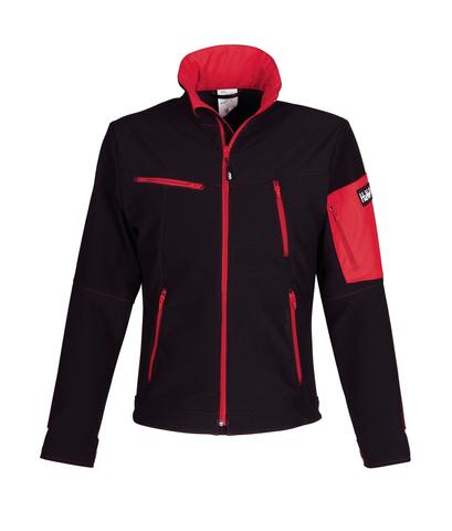HAVEP® Titan Softshell Zwart/rood
