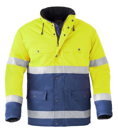 HAVEP® High Visibility Korte parka 4133 Marine/fluo geel