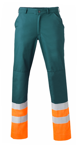 HAVEP® High Visibility Werkbroek 8397 Flessengroen/fluo oranje