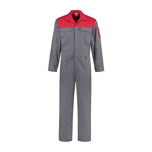 Bestex Overall grijs-rood  2-kleurig