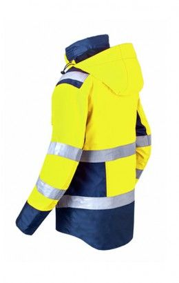 HAVEP® High Visibility Parka 50217 fluo geel/marine