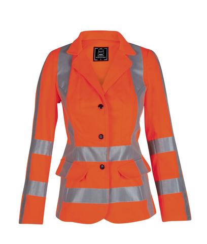 HAVEP® High Visibility Dames korte jas fluo oranje