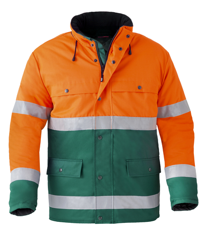 HAVEP® High Visibility Parka 4133 Flessengroen/fluo oranje