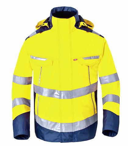 HAVEP® High Visibility Parka 50217 fluo geel/marine